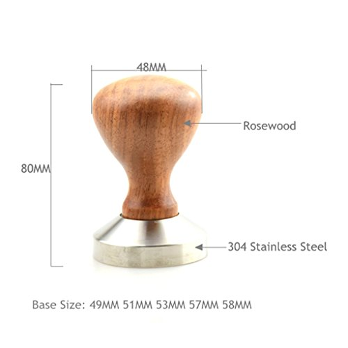 Blesiya Stainless Steel Coffee Hammer Espresso Tamper Base Press Powder Bean Tool - #2 51mm by Blesiya (Image #8)