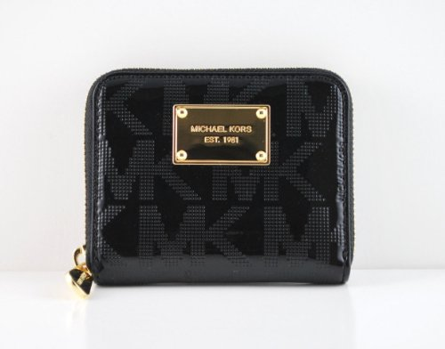 6ef96eb5f5d105 Michael Kors Item Zip Around Signature Mirror Metallic Bifold Wallet in  Black - Buy Online in UAE. | Apparel Products in the UAE - See Prices, ...