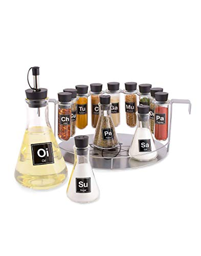 (Chemist's Spice Rack, 14 Piece Chemistry Spice Rack Set)