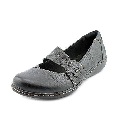Womens Clarks, Ashland Twist Slip on Shoes BLACK 5.5 M