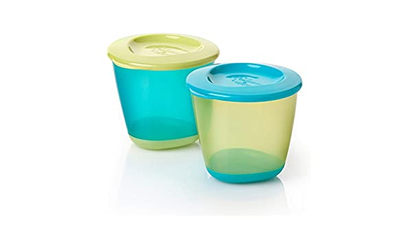 Amazon.com : Tommee Tippee Explora Pop-Up Weaning Pots 2pk (Boys ...