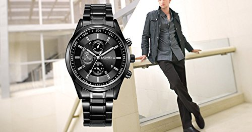 Daimon-Mens-Watches-with-Black-Face-Wrist-Watches-for-Men