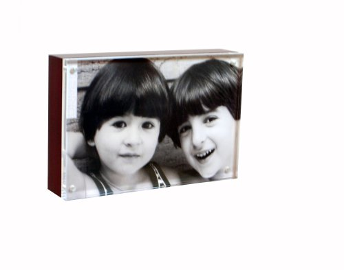 Mahogany Wood Back Magnet Frame by Canetti-5x7 inch