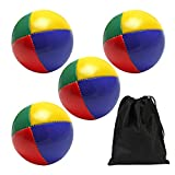 Elcoho 4 Pack Round Juggling Balls Smooth and Soft Juggle Balls with A Bags for Kids and Adults (4)
