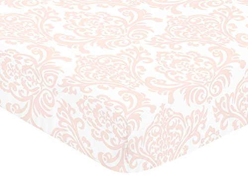 Fitted Crib Sheet for Amelia Baby/Toddler Bedding by Sweet Jojo Designs - Damask Print