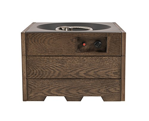 LEGACY HEATING CDFP-S-C/5 23.5-inch Square Wood Grain Finish Fire Pit, Yellow