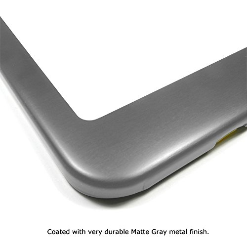 GMC Gray Metal License Plate Frame