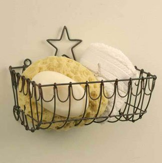 Primitive Country Star Wire Basket~wall Mount