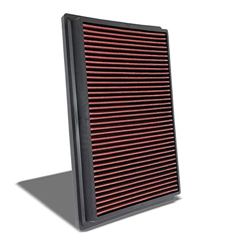Red High Flow Performance Cotton Gauze Washable/Reusable OE Style Drop-In Panel Replacement Air Filter withs with Toyota Hilux/Fotuner Diesel Engine (Fits Non USDM Models Only)