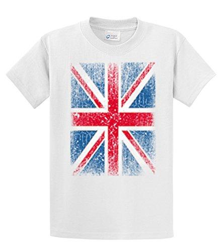British Flag T-Shirt Distressed Flag (Mens T-shirts Uk)