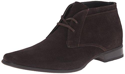 Calvin Klein Men's Ballard Suede Boot, Dark Brown, 12 M US