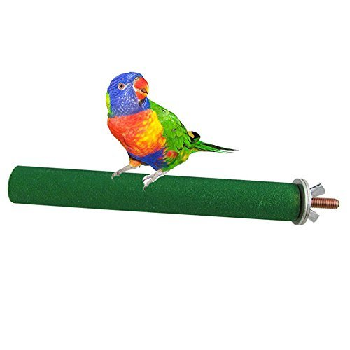 Bird Cage Perch Stand Wooden Paw Grinding Toy Chew Toys for Bird Parrot Macaw African Greys Budgies Parakeet Cockatiels Conure Lovebird Cage Hanging Accessories