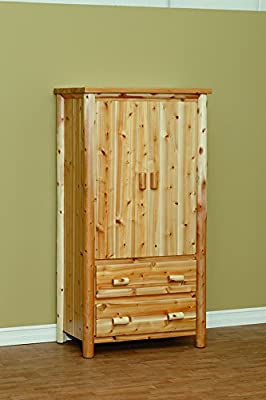 White Cedar Rustic Armoire *6 stain options*