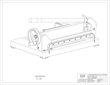 Amazon Com Qcm 8200m Heavy Duty Desktop Stack Paper Cutter Stack