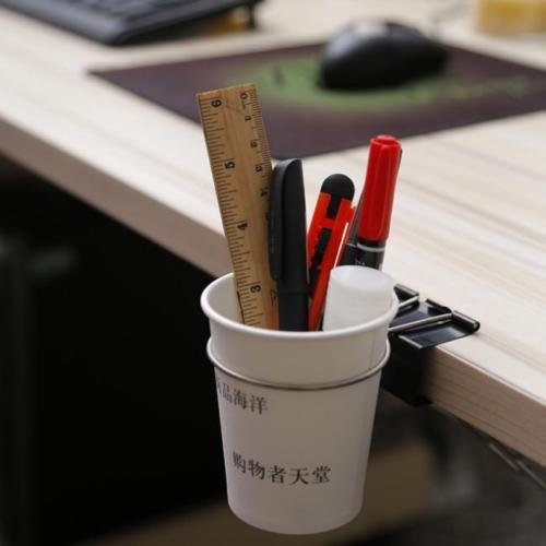 XENO-Home Office Desk Table Drink Coffee Cup Holder Mug Clip Rack Cradle Organizer LJ