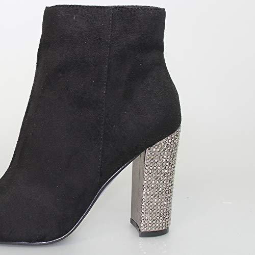 UK Boots Studded Heel Womens 7 Lunar Black Ameera qY1ZwW6