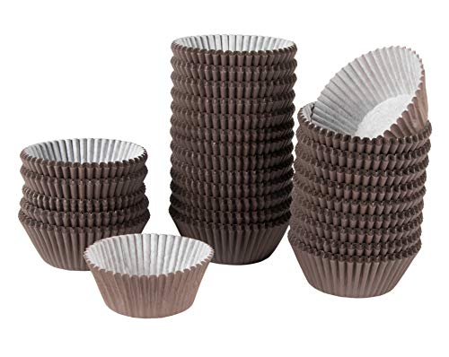 Brown Cupcake Liners - 1000-Pack Bulk Cupcake and Muffin Paper Baking Cups, Standard Sized Pastry Wrappers, Ideal for Professional Bakery Business Supplies, Birthday Parties, Weddings, 2 x 1 Inches