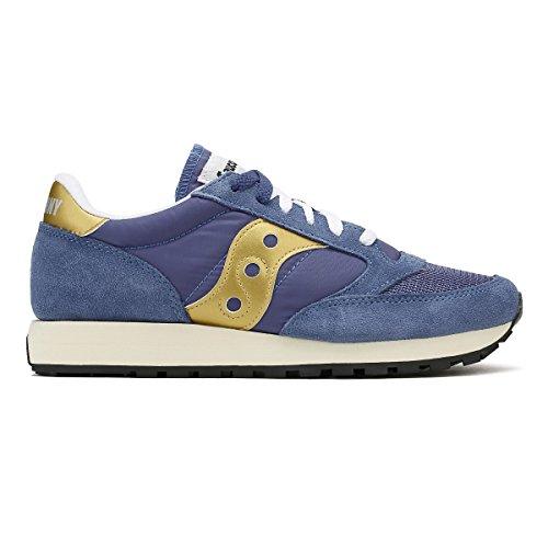 De Navy / Gold Jazz Originele Vintage Sneakers Marine / Goud Van Saucony Dames