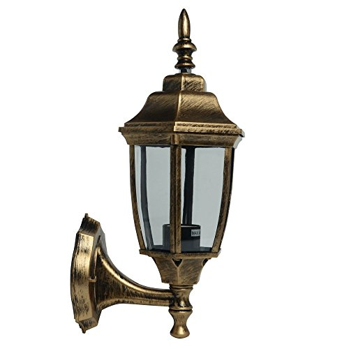 Jambo LBD-03 Vintage Style Retro Industrial Black Cage Wall Sconce One light Wall Lantern E27 Socket (Bulb Not Included)