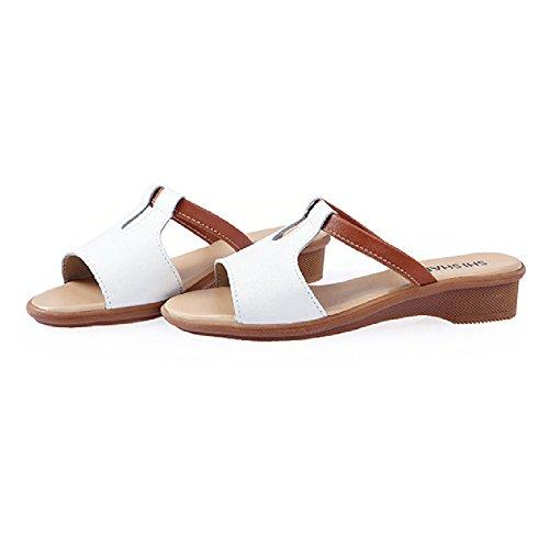 Fashion Sandals For Women Anti-Slip Flat Summer Beach Slippers Soft Slides White jvzvft7