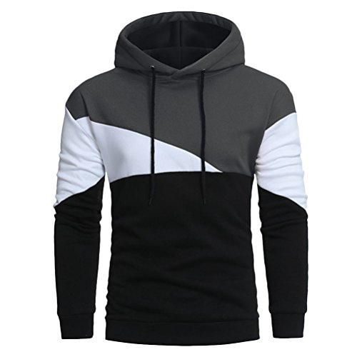 Zhhlaixing Mens Pour des hommes Boys Long Sleeve Colourful Hooded Sweater Pullover Sweatshirt Slim Perfect for Christmas Halloween Gift