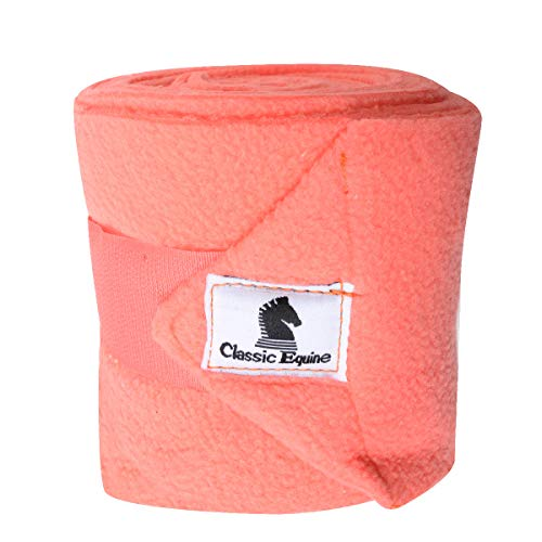 Classic Equine Polo Wraps, Coral