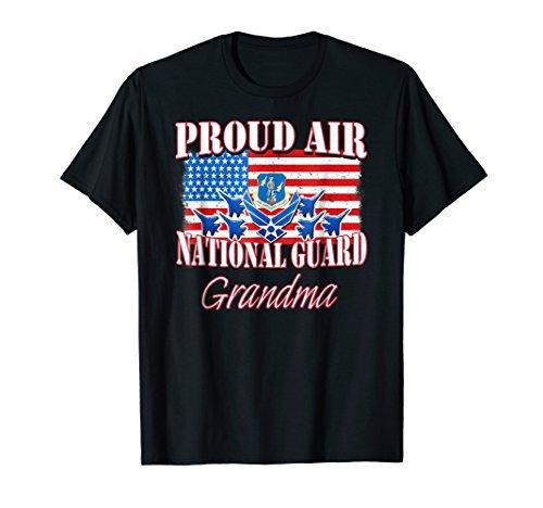 Proud Air National Guard Grandma Shirt USA Air Force Women
