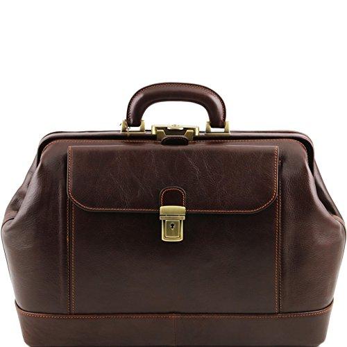 Leonardo Exclusive leather doctor bag Dark Brown