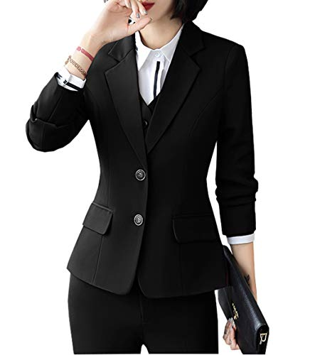 JHVYF Womens Casual Basic Work Office Blazer One Button Jacket C8229 Black Tag 4XL /US 10