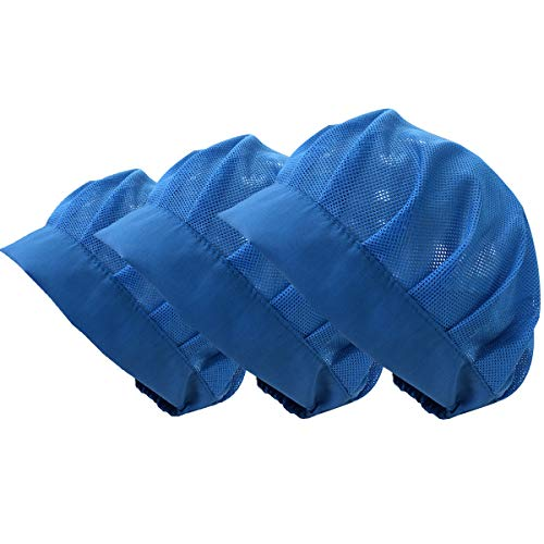 - Cityelf Chef Hat Unisex Adjustable Mesh Kitchen Restaurant Workshop Protective Hats Hair Net Cooking Hair Control Caps 3pcs
