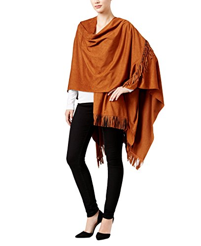 (Inc International Concepts Women's All Over Faux Suede Fringe Poncho,One Size)