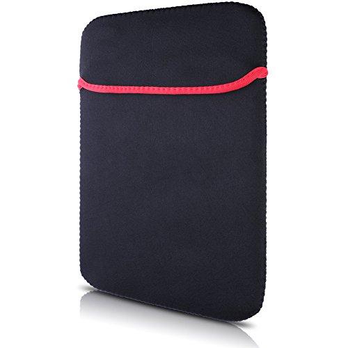 Neoprene Laptop Sleeve Bag , LOHASIC Reversible Sleeve Bag Cover for All 15 Inch Laptop Notebook / Macbook Pro / Macbook Air / Ultrabook / Chromebook-Pure Black