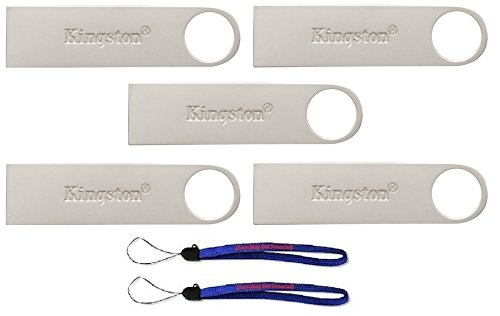 Kingston (TM) Digital 32GB DTSE9 G2 Data Traveler 5 Pack 3.0 USB High Speed Flash Drive with (2) Everything But Stromboli (TM) ()