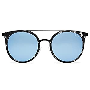 Quay Australia KANDYGRAM Women's Sunglasses Sports Aviator - BlackTort/Blue