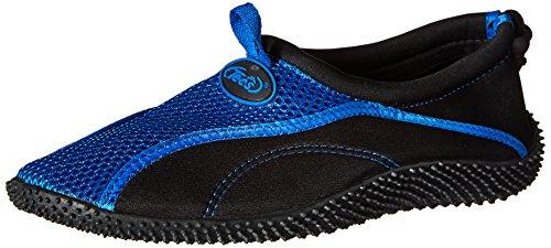 TECS Men's Aquasock Water Shoe, Royal/Black, 10 M US