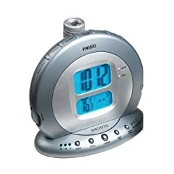 HoMedics Sound Spa Projection Clock Radio with Atomic Clock & Nature Sounds