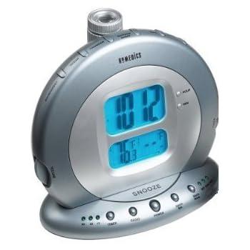 amazon com homedics sound spa projection clock radio with atomic clock   nature sounds home HoMedics Sound Machine homedics soundspa premier projection clock radio manual