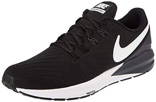 Nike Men's Air Zoom Structure 22 Running Shoe Black/Gridiron/White 12 M US