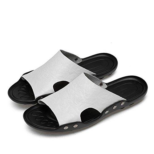 Pelle da Indoor Scarpe Cricket Toe Pantofola da Vera Uomo Bianca per in Open casa Uomo BCffq1wxY