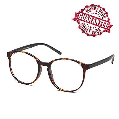LifeArt Blue Light Blocking Glassess with Transparent UV Block Lens,Better Sleep,Anti-Eyestrain for Gaming&Electronic Screen Reading Glasses,Men/Women/Youth)