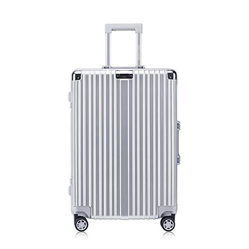 (High-Capacity Foveate Hardside Aluminum Frame Luggage, 24