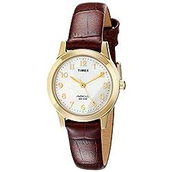 Timex Women's T21693 Essex Avenue Burgundy Croco Pattern Leather Strap Watch
