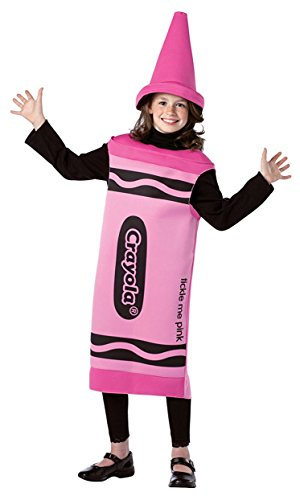 Crayola Child Costume Color: Tickle Me Pink, Size: 7-10 (Group Costumes)