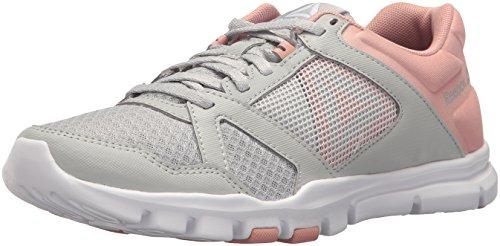 Reebok Women's Yourflex Trainette 10 Mt Cross Trainer, Skull Grey/Chalk Pink/White, M US