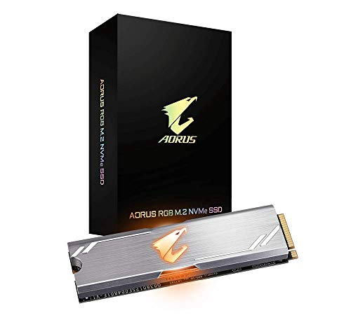 Gigabyte AORUS RGB NVMe M.2 256GB High Performance Gaming, Integrated Heatsink, Toshiba 3D NAND, DDR Cache Buffer, 5 Year Warranty SSD GP-ASM2NE2256GTTDR