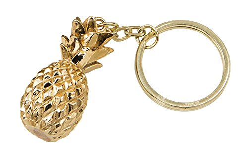 (Fashioncraft Gold Pineapple Themed Key Chain)