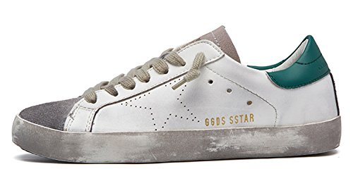 Trainers Goose Men Italy 2018 New Leather Green Shoes Genuine Casual Star Golden 0UxZq