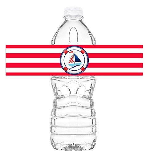 POP parties Nautical Sailboat Bottle Wraps - Ahoy