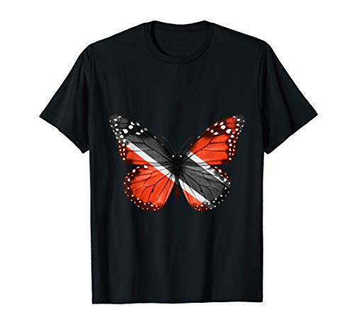 Butterfly Flag Of Trinidad And Tobago Shirt ()