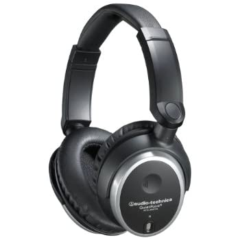Audio-Technica ATH-ANC7B QuietPoint Active Noise-Cancelling Closed-Back Headphones, Wired
